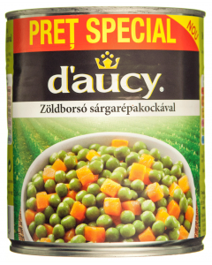 Mazare si morcovi cubulete D'Aucy 800g