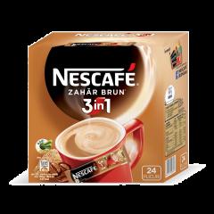 Specialitate cafea 3in1 Nescafe Zahar Brun 24 plicuri x 15g