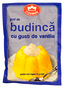 Praf de budinca cu gust de vanilie Cosmin 45g