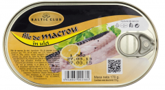 File de macrou in ulei Baltic Club 170g