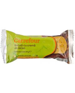 Biscuiti cu crema de cacao Carrefour 36g