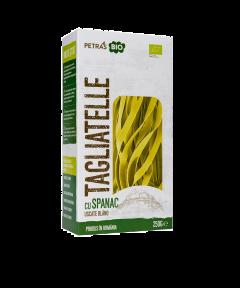 Tagliatelle bio cu spanac Delicatese Artizanale Petras Bio 250g