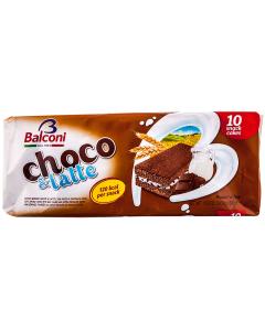Prajitura cu umplutura de lapte si ciocolata Balconi 300g