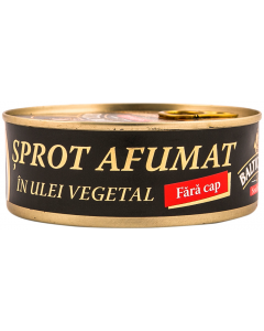 Sprot afumat in ulei vegetal Baltic Club 240g