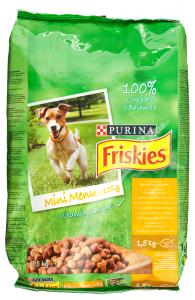 Hrana uscata pentru caini cu pui si legume, Friskies 1.5 kg