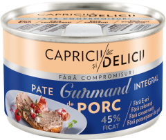 Pate integral cu ficat de porc Gurmand Capricii si Delicii 145g