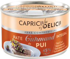 Pate integral cu ficat de pui Gurmand Capricii si Delicii  145g