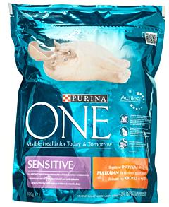 Hrana uscata pentru pisici adulte Purina Sensitive 800g