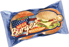 Chifle Jumbo cu susan pentru Hamburger Quickbury 300g