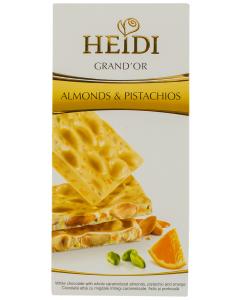 Ciocolata Almonds& Pistachios Heidi 100G