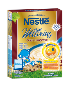 Cereale pentru sugari Nestle Orez cu roscove 250g