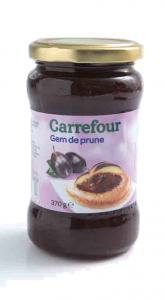 Gem de prune Carrefour 370g