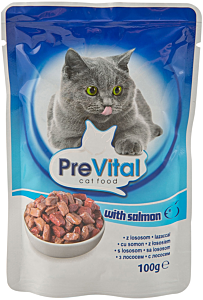 Hrana pisici cu somon PreVital 100g
