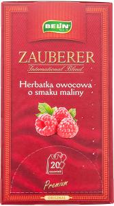 Ceai din fructe cu aroma zmeura Zauberer 45g