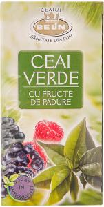 Ceai verde cu fructe de padure Belin 40g