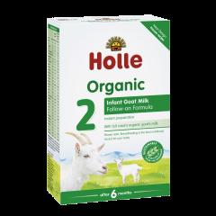 Lapte organic de capra formula 2 6luni+  Holle Baby Food 400g