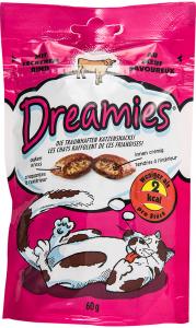 Hrana uscata pentru pisici cu vita delicioasa Dreamies 60 g