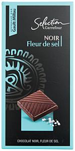 Ciocolata neagra Carrefour Selection Fleur de Sel 100g