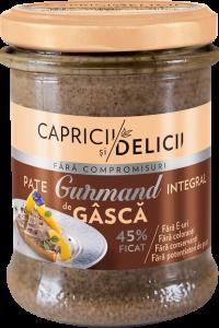 Pate cu ficat de gasca Gurmand Capricii si Delicii 180g