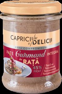 Pate cu ficat de rata Gurmand Capricii si Delicii 180g