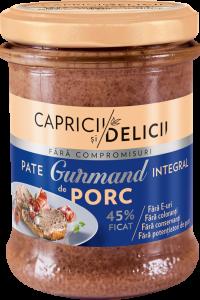 Pate integral de porc Gurmand Capricii si Delicii 180g