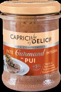 Pate integral cu ficat de pui Gurmand Capricii si Delicii 180g