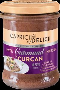 Pate cu ficat de curcan Gurmand Capricii si Delicii 180g
