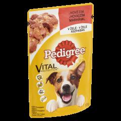 Hrana pentru caini adulti cu vita bucati de carne in aspic Pedigree 100 g