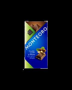 Ciocolata cu lapte si alune Monteoro 90g