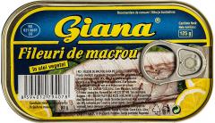 Fileuri de macrou in ulei vegetal Giana 125g