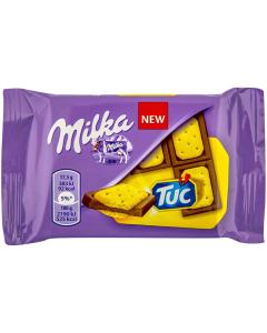 Ciocolata cu lapte Milka cu biscuiti sarati Tuc 35g