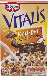 Musli cu ciocolata si biscuiti Dr.Oetker Vitalis Krnusper 450g