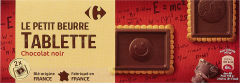 Biscuiti cu unt si ciocolata neagra Carrefour Le petit beurre 150g