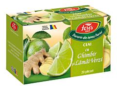 Ceai cu ghimbir si lamai verzi Fares Aromfruct 40g