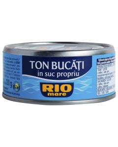 Conserva ton bucati in suc propriu Rio Mare 160g