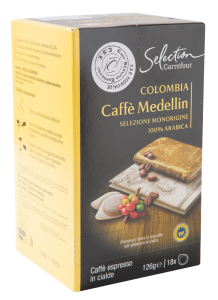 Cafea pur arabica columbia Carrefour 18x6.9g