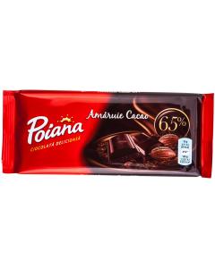 Ciocolata amaruie cu cacao Poiana 80g