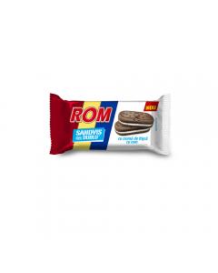 Biscuiti de cacao cu crema de frisca si rom Rom sandvis cel Dublu 36g