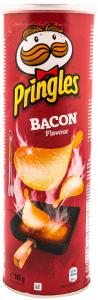 Snack savuros cu gust de bacon Pringles Bacon 165g