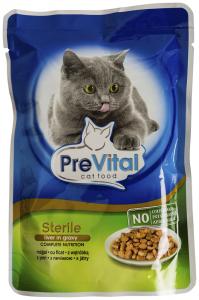 Hrana pentru pisici adulte sterilizate cu ficat PreVital 100g