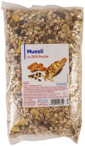 Muesli cu 30% fructe Carrefour 1kg