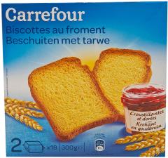 Biscuiti cu grau Carrefour 300g