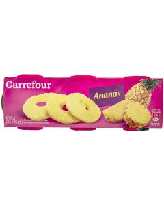 Ananas felii in sirop usor indulcit Carrefour 675g 3x225g