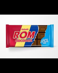 Ciocolata cu lapte si crema rom Rom 88g