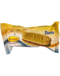 Biscuiti cu crema cacao Divertis Boromir 30g