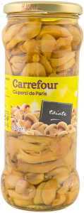 Ciuperci de Paris taiate Carrefour 530g