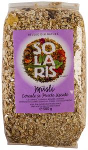 Musli cereale si fructe uscate Solaris 500g