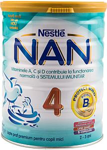 Lapte praf pentru copii mici Nestle Nan 4 800g