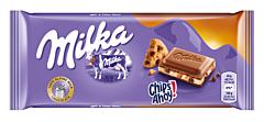 Ciocolata cu lapte alpin si bucatele de biscuiti cu ciocolata Milka 100g