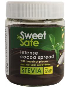 Crema intensa de cacao si alune cu stevie Sweet & Safe 220g